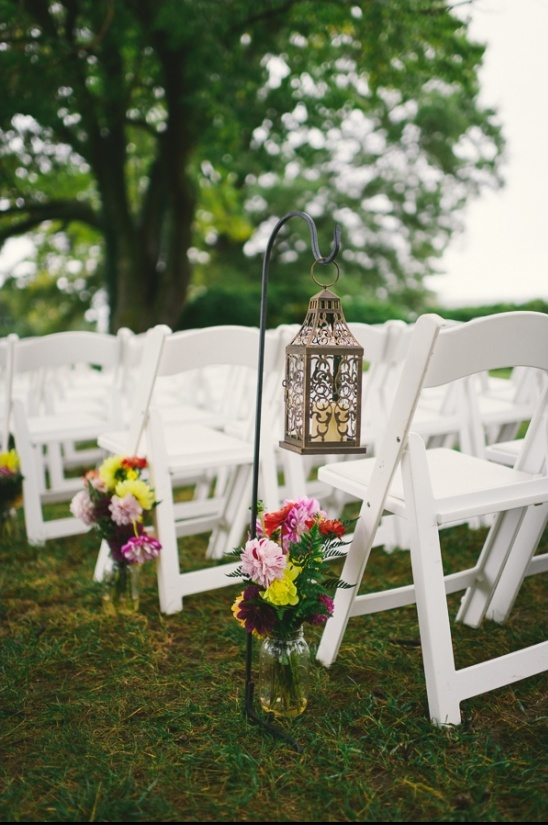 lantern and floral ceremony decoration ideas