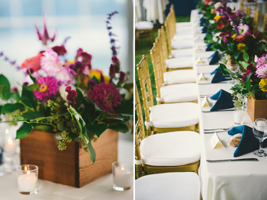 flower box wedding centerpieces