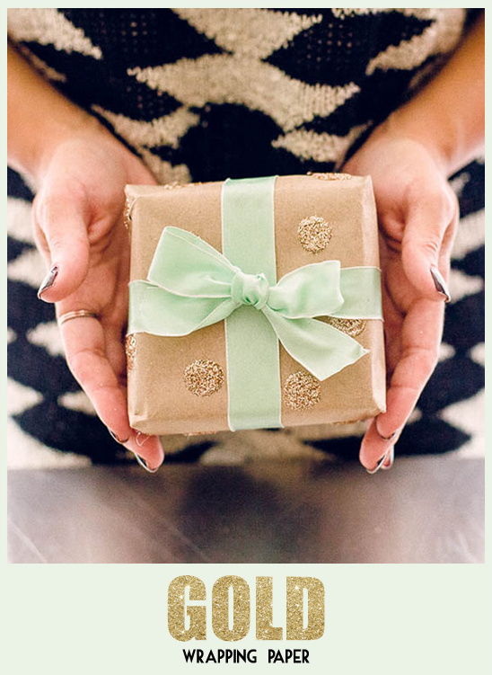 diy gold wrapping paper