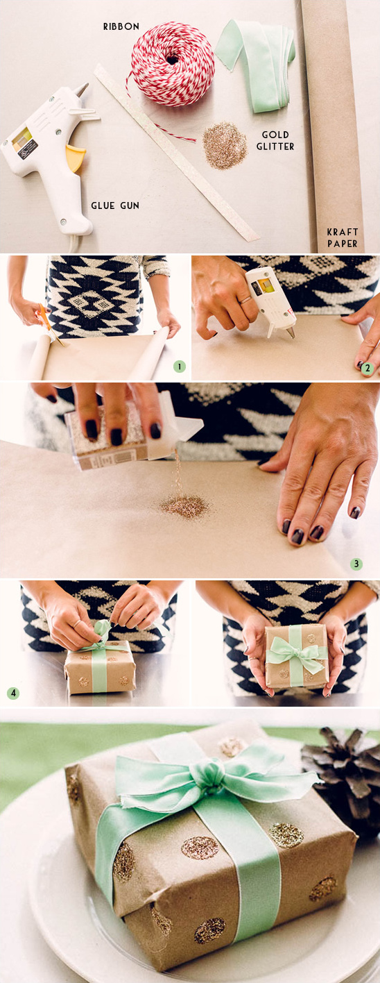 Blog - DIY Gold Wrapping Paper