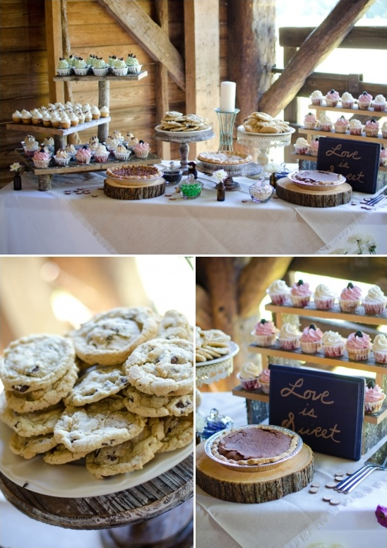 assorted dessert table