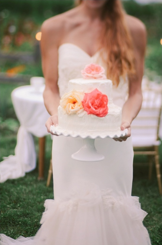white wedding cake by penny christians