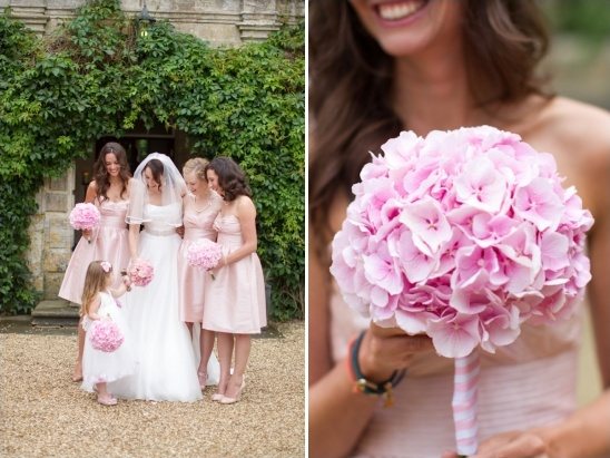 pink bridesmaid bouquet by jamie aston