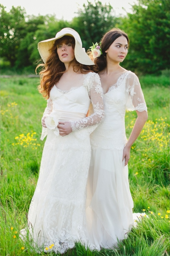 hippie inspired weddin gowns