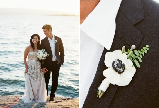 anemone wedding boutonniere