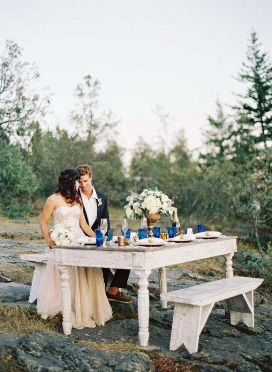 seaside wedding reception