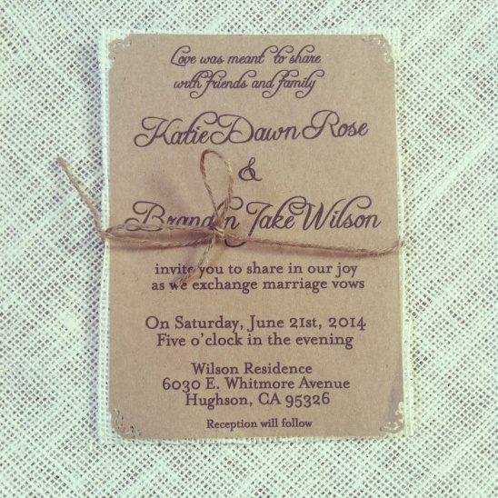 wedding invitations with rsvp rustic clean kraft wedding invite with ivory burlap 9778