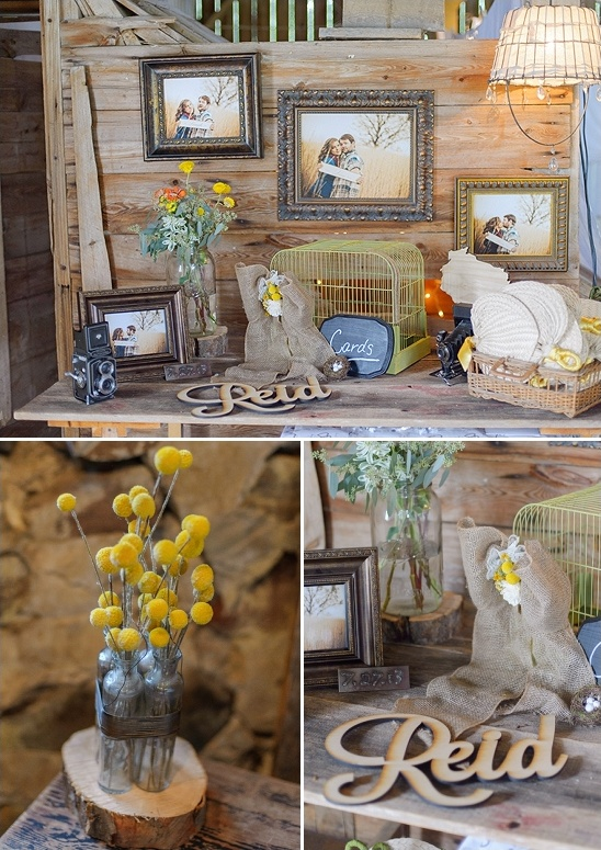 rustic welcome table