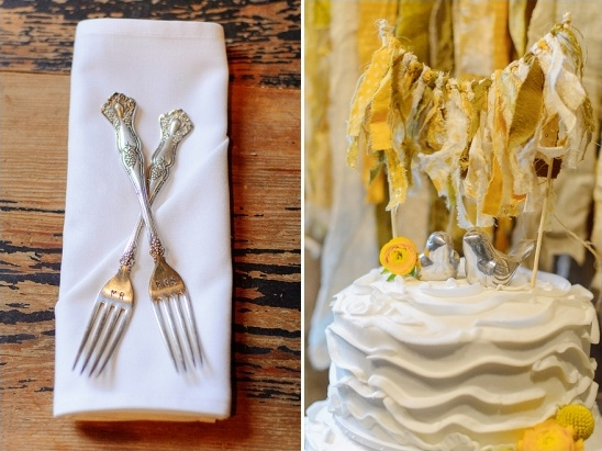 mr and mrs forks and salt and pepper shaker cake topper