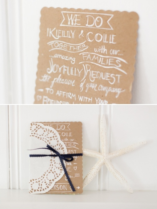 easy handmade wedding invitation idea
