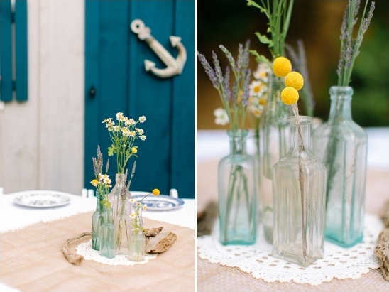 glass bottle floral arrangements