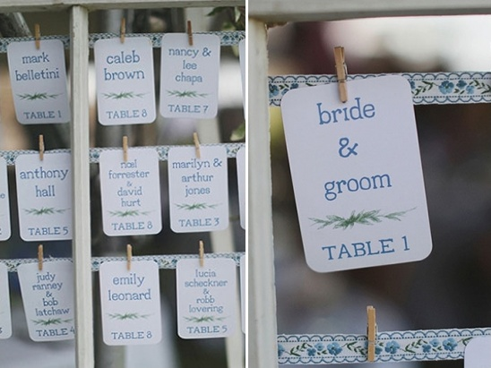 escort cards by mstarr event styling and design