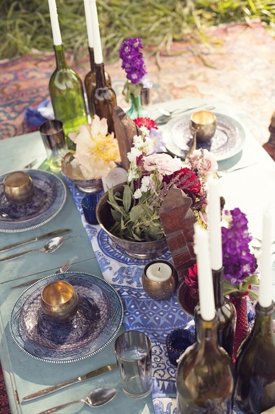 boho chic table decor