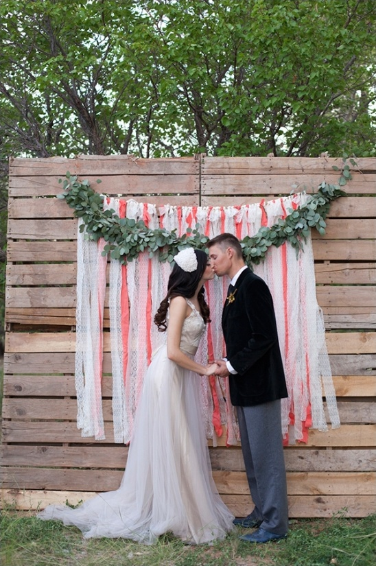 palette wedding backdrop