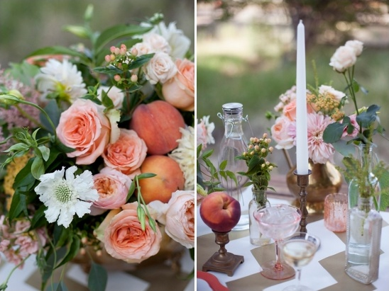 you can add charm with mismatched glass bottle vases