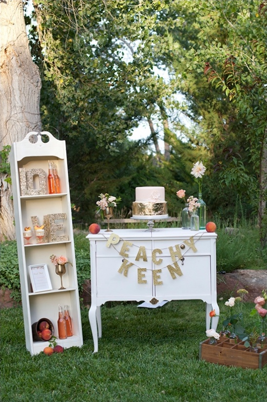 peachy keen vintage glam dessert table