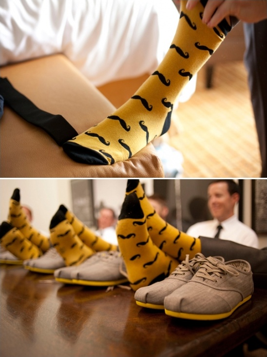 matching groomsmen socks and shoes