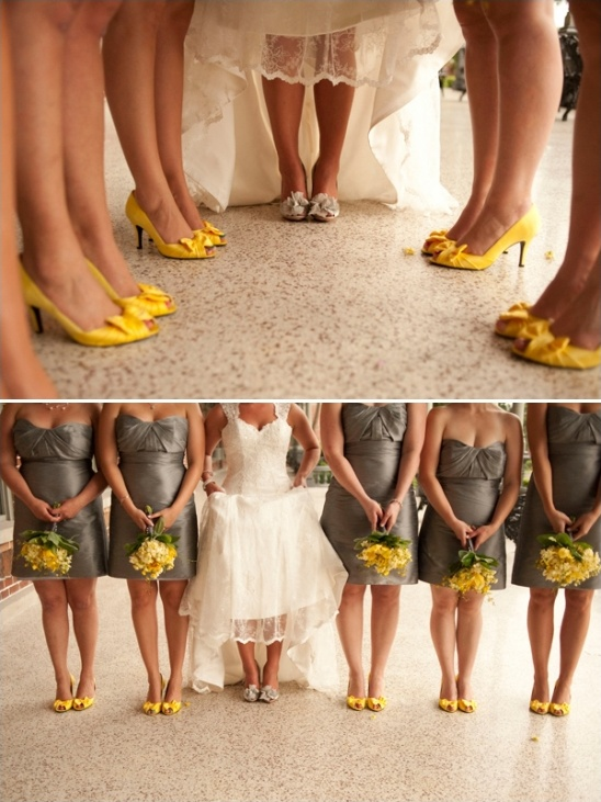 yellow bridesmaid shoes