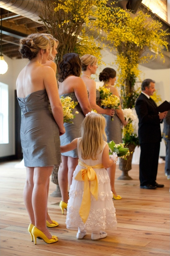 yellow and grey wedding at the oxford exchange