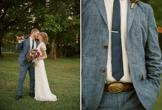chambray groom looks