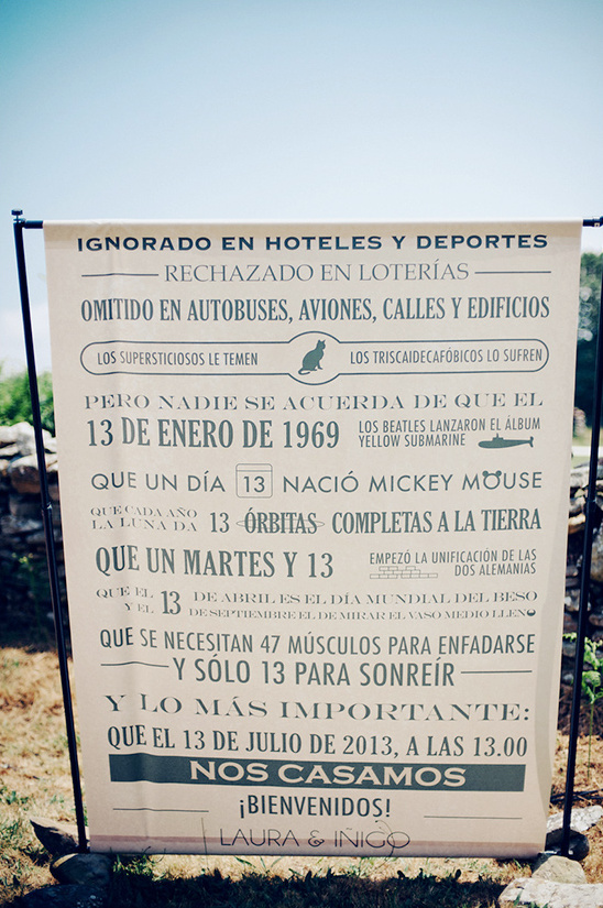 wedding sign in Spanish