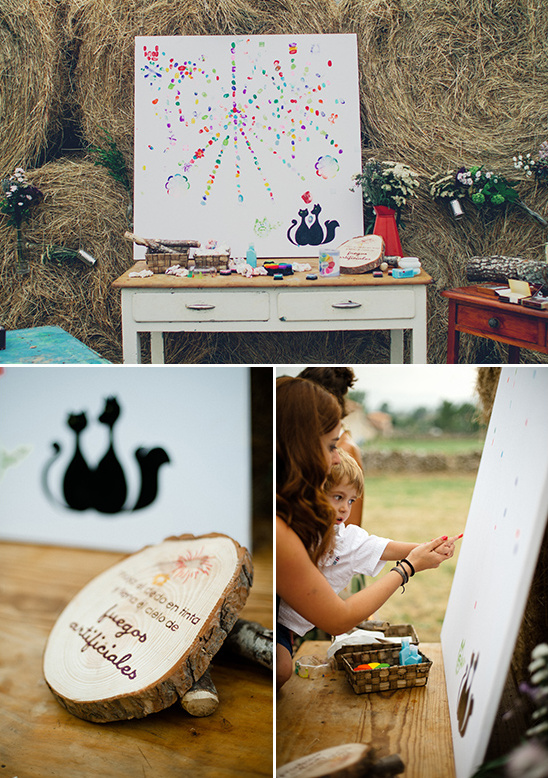 fingerprint firework guestbook ideas