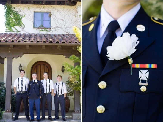 military looks for the groom