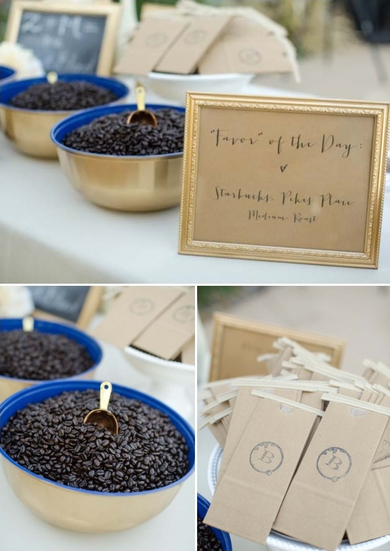 coffee roast wedding favors