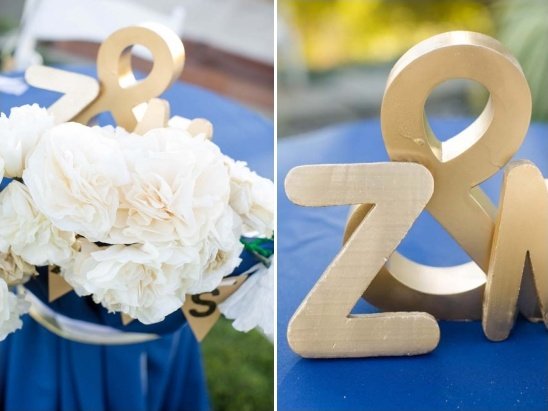 handmade wedding gold letters