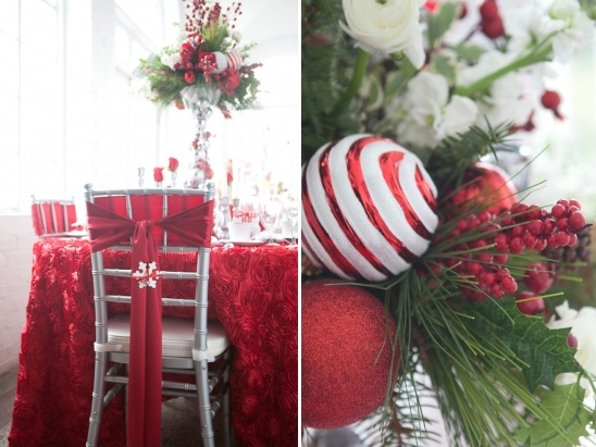 red and green holiday table