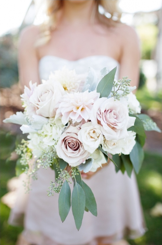 pink and green bridal bouquet