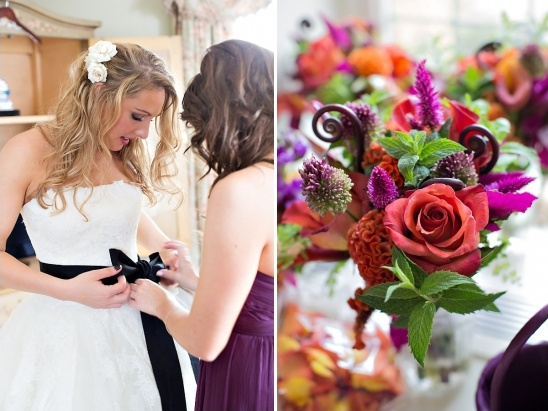 purple and red wedding ideas