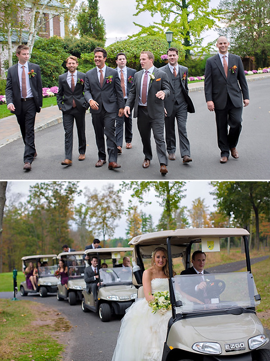 golfcart wedding party