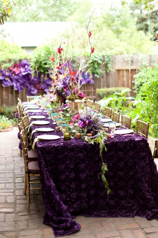 wedding decorations in purple purple and gold bridal shower ideas 9123