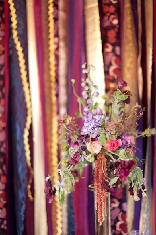 gold and purple bridal shower ideas