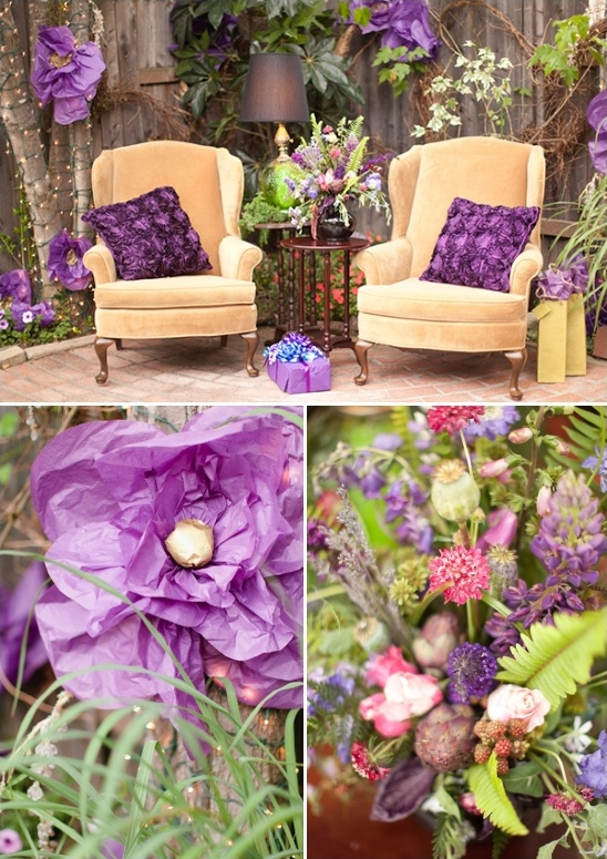 Purple and Gold Bridal Shower Ideas