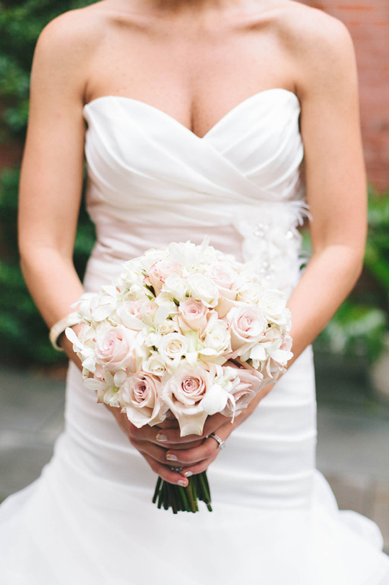 light pink and white bridal bouquet by Beautiful Blooms