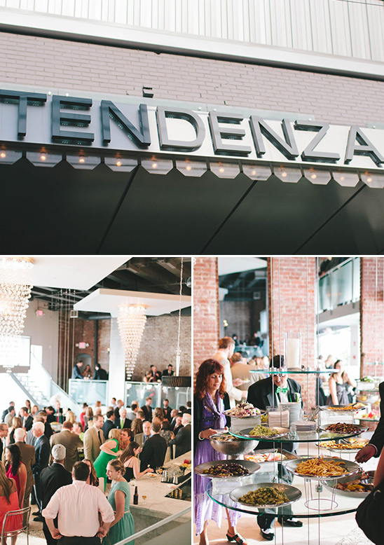wedding cocktail hour and reception at Tendenza