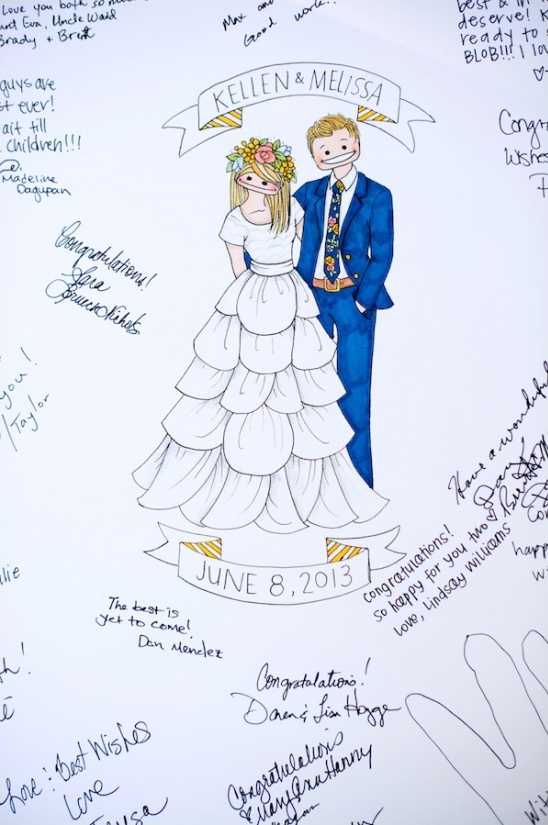 illustration guest book ideas
