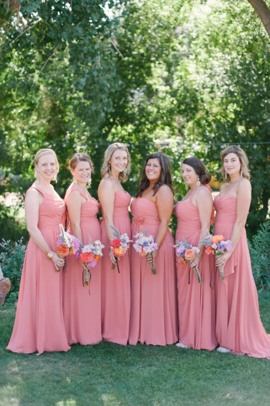 Coral Dresses for Outdoor Country Wedding