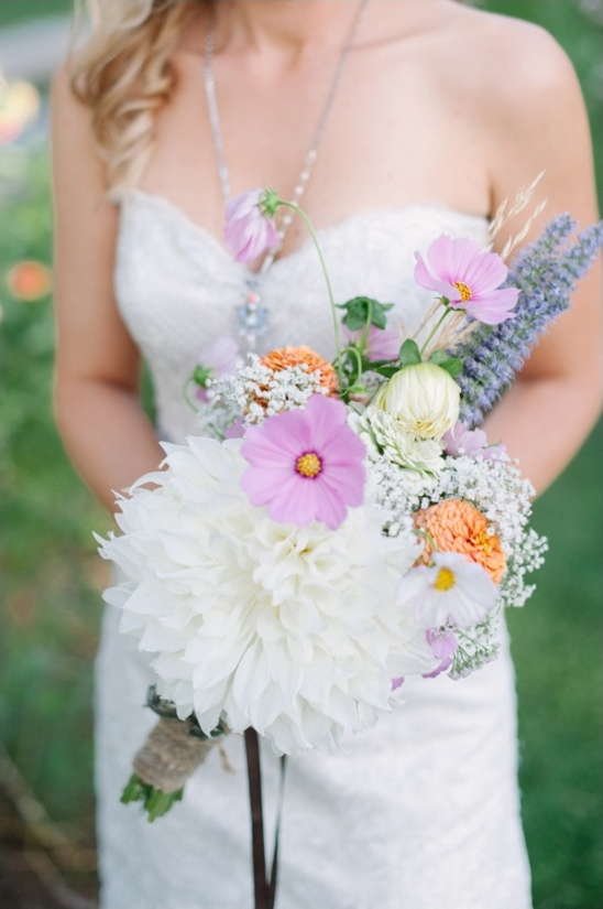 wildflower wedding bouquets by the lyons farmette