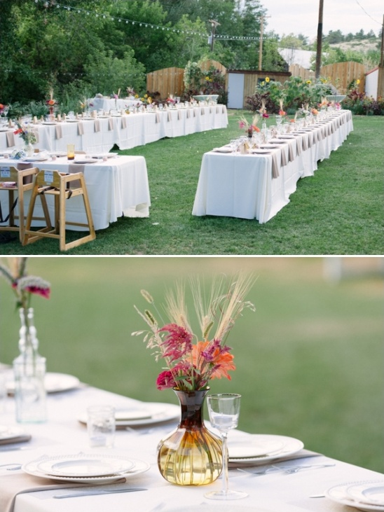 outdoor wedding reception at the lyons farmette
