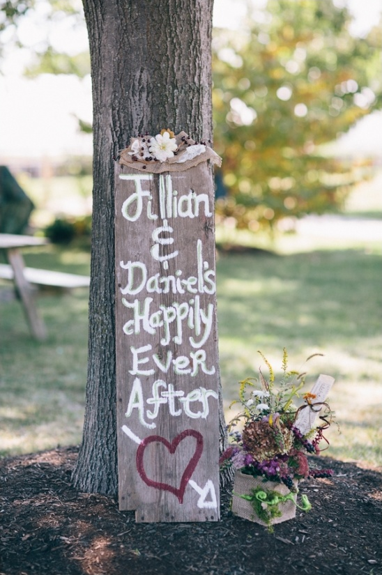 happily ever after rustic wedding sign