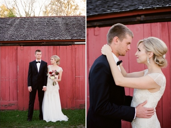 classic bride and groom looks