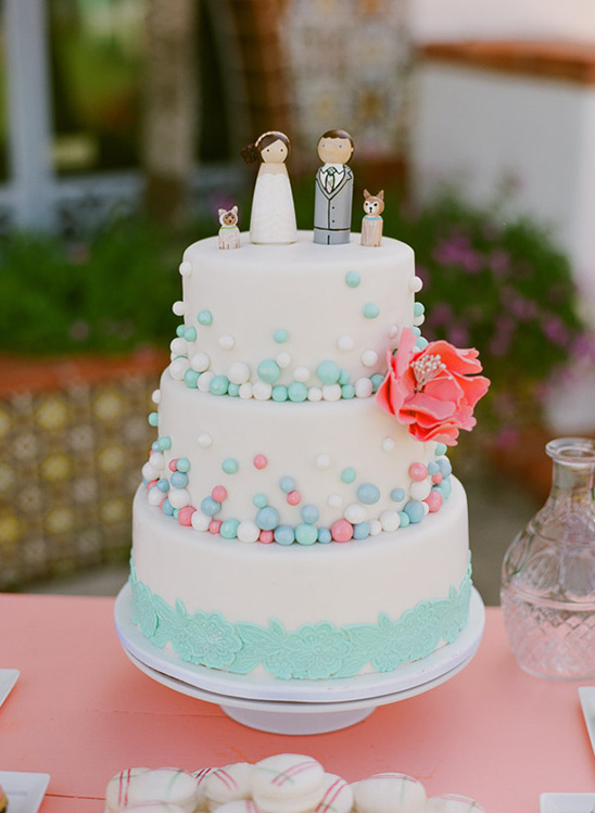 Malibu Hand Crafted Mint And Peach Wedding