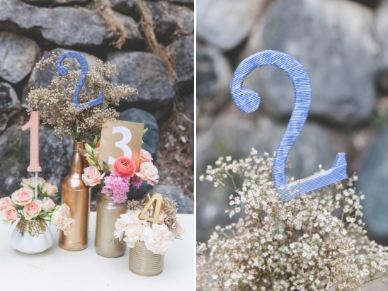 fabric wrapped table numbers