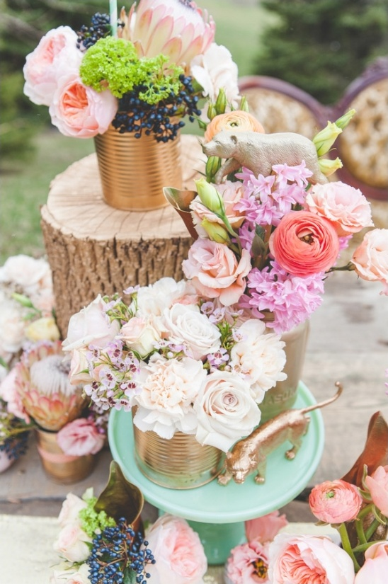 tin can floral centerpieces
