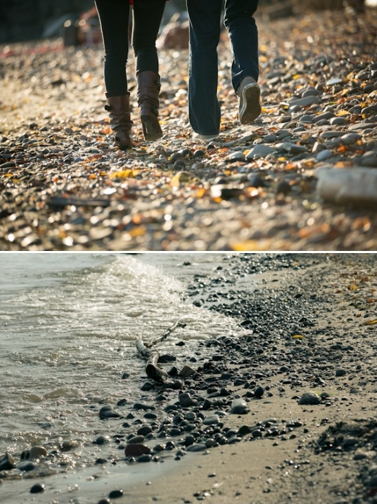 great engagement session idea: take a walk on the beach