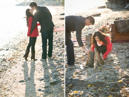 lakeside engagement session ideas in the fall