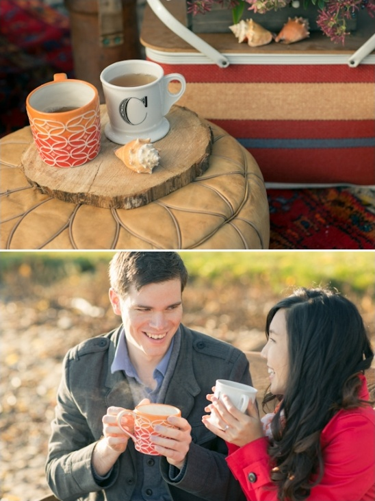 warm drinks for a fall picnic